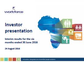 Investor Presentation | Investor Presentations Workforce Holdings Ltd